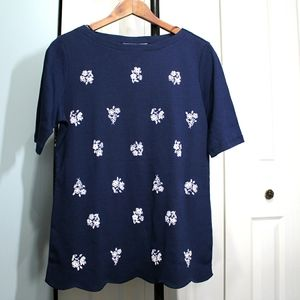 Karen Scott Cotton NWT T-shirt ladies medium, navy